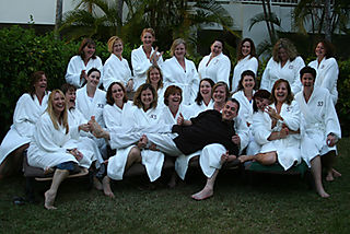 Group robe shot
