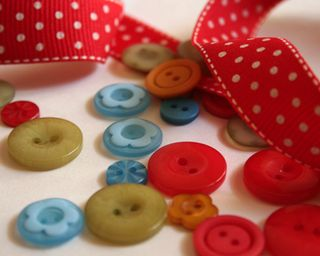 Buttons and ribbon