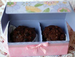 Double cupcake box open
