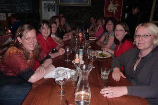 Small team dinner
