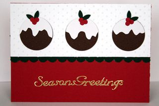 Plum pudding card