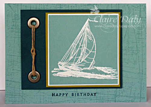 Stampin Up Australia Claire Daly Independent Demonstrator – Masculine Birthday Card