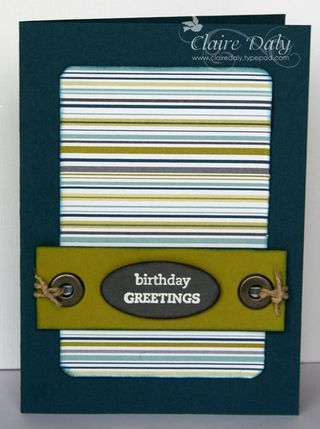 Stampin Up male birthday card