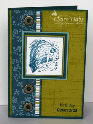 Stampin up male birthday cards