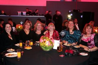 Our table at awards dinner