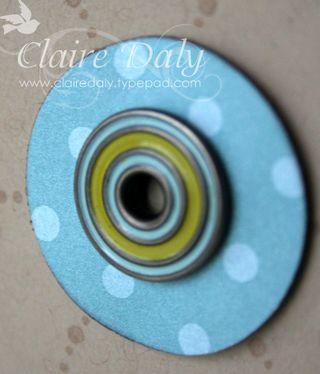 Close up decorative eyelets