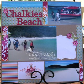 Chalkies beach layout