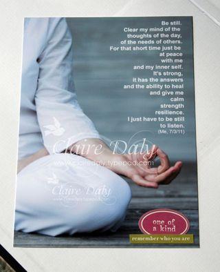 Olw meditation journalling