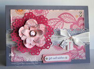 Flirtacious flower card