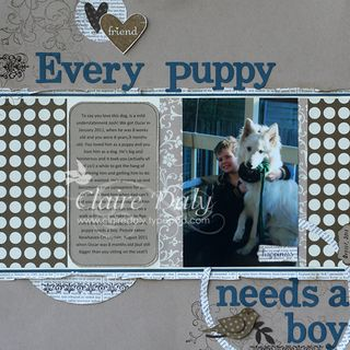 Every Puppy Needs a Boy layout