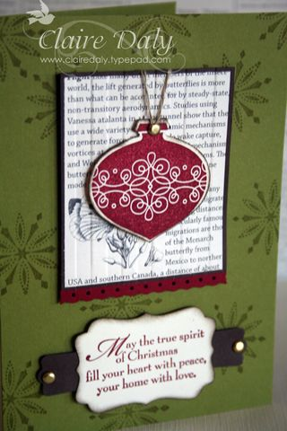 stampin up Snow Swirled Tags til Christmas