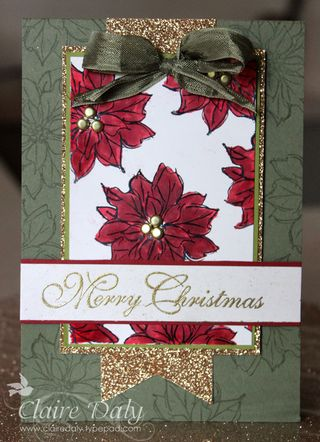 Watercolour winter Stampin Up