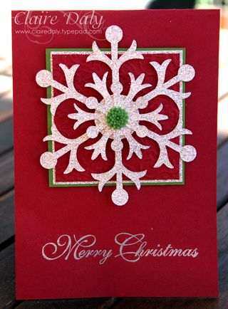 Stampin Up Snow Flurry