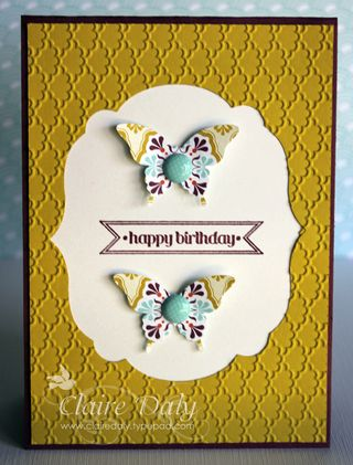 Saleabration Sycamore St DSP Stampin Up Framelits Butterfly Punch
