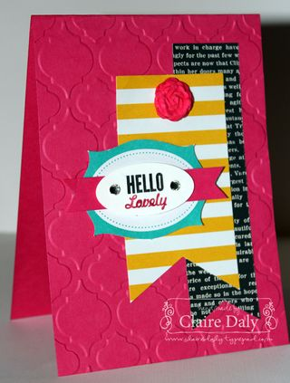 Stampin Up Hello Lovely