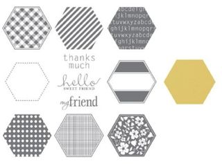 Hexagon punch stampin up