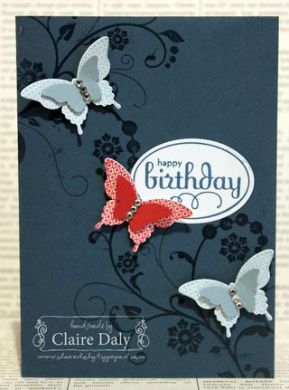 stampin up butterfly punches papillion potpourri