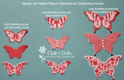 stampin up butterfly punches