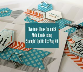 stampin up male cards