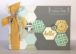 stampin up hexagon six sided sampler