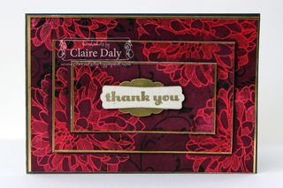 Stampin Up Regrading Dahlias emboss resist triple layer card