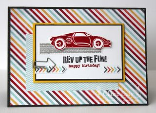 Stampin Up Rev up the fun I am me DSP