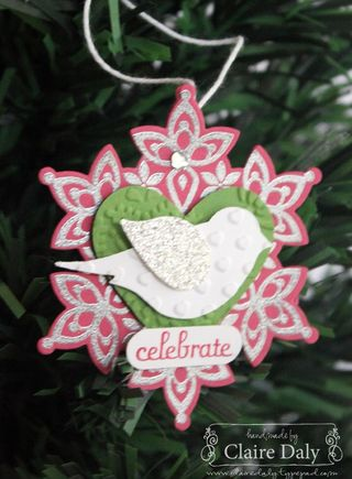 Festive Flurry Joyful ornament