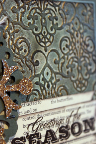 Faux patina stampin up
