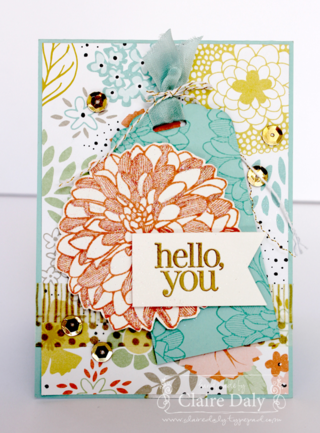 Stampin' Up! Regarding Dahlias Tag Punch