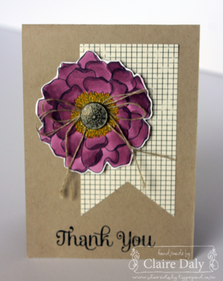Stampin' Up! Blendabilities Techniques using Blended Blooms and Four You by Claire Daly Melbourne Australia at www.clairedaly.typepad.com