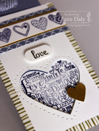 Language Of Love stampin up tag topper punch