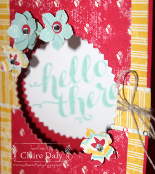 Stampin' Up! Flashback DSP and Hello There stamp set: Stamping and Blogging #58 by Claire Daly Melbourne Australia www.clairedaly.typepad.com