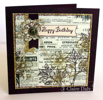 Stampin' Up! Bloom with Hope and Typepset DSP for SB66 by Claire Daly Stampin' Up! Melbourne Australia at www.clairedaly.typepad.com