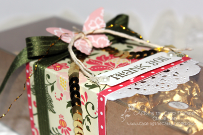 Decorated gift box for CASE challenge 1 by Claire Daly Stampin' Up! Demonstrator Melbourne Australia at www.clairedaly.typepad.com