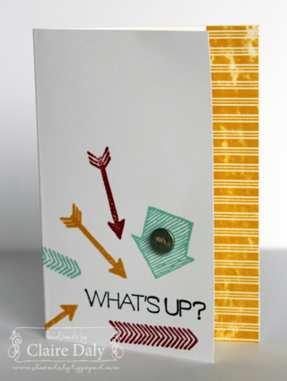 Stampin' Up! What's Up? with Flashback DSP by Claire Daly Stampin' up! Melbourne Australia at www.clairedaly.typepad.com