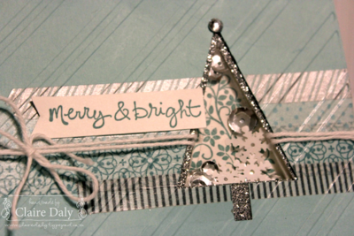 Stampin Up! Festival of Trees Shaker Card by Claire Daly Stampin' Up! Demonstartor Melbourne Australia