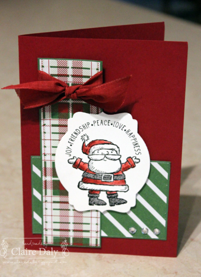 Stampin Up Get Your Santa On, Claire Daly Stampin' Up! Demonstrator Melbourne Australia
