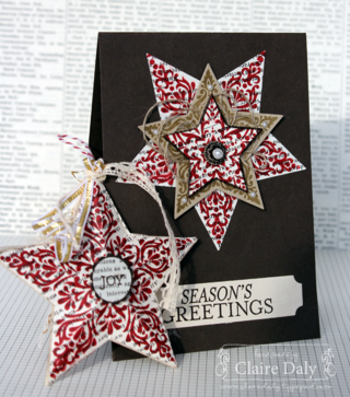Stampin' Up! Bright and Beautiful Christmas Card and Star Decoration