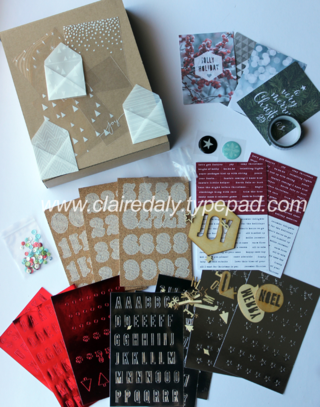 Stampin' Up! Project Life Christmas range 2014 Hello December Accessory Pack available from Claire Daly Melbourne Australia at www.clairedaly.typepad.com