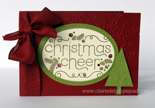 Stampin Up Cheerful Christmas Christmas card by Claire Daly Stampin' Up! Melbourne Australia