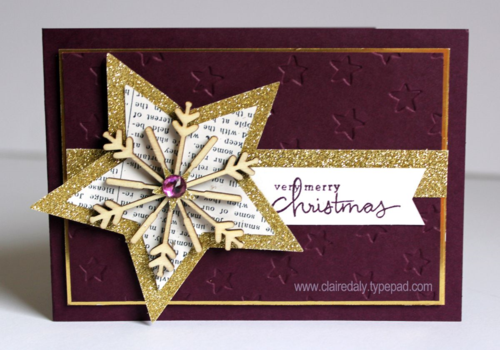 Stampin' Up! Endless Wishes star Christmas card by Claire Daly Melbourne Australia.