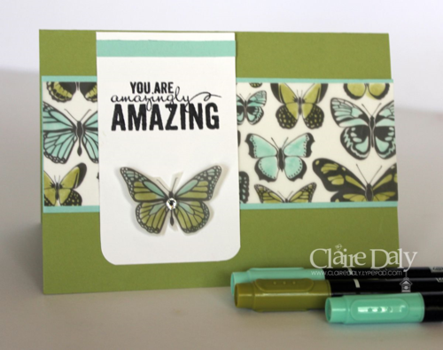 Stampin Up Sheer Perfection Designer Vellum Stack card by Claire Daly Stampin Up Demonstrator Melbourne Australia. Earn FREE until March 31st with Saleabration.