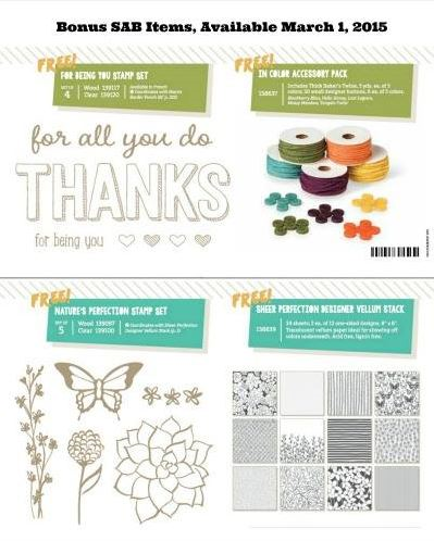 Earn one of these items FREE with a $90 order by March 31st in my online Stampin' Up! store. Claire Daly Stampin Up Demonstrator Melbourne Australia