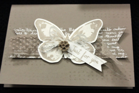 Stampin Up 2015 - 2017 In Colour / In Color card in Tip Top Taupe showing sneak peek of 2015 Annual Catalogue products