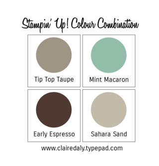 Stampin Up Colour / Color Combination Claire Daly Mint Macaron Tip Top Taupe