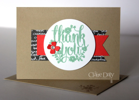 Stampin' Up! quick and simpe thank you card. Claire Daly Melbourne Australia.