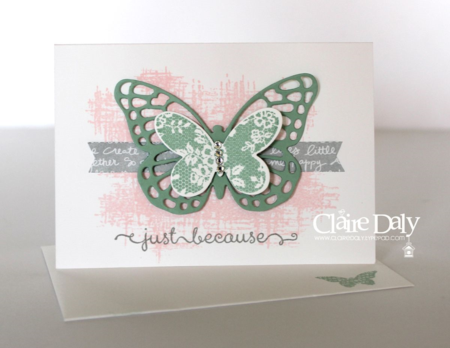 Stampin Up Butterfly Basics Notecards by Claire Daly Melbourne Australia