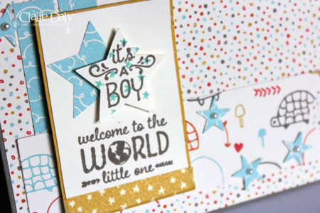 Stampin Up Sweet L'il One Stamp Set, Sweet L'il Things DSP & Washi for SB112 by Claire Daly SU Demo Australia