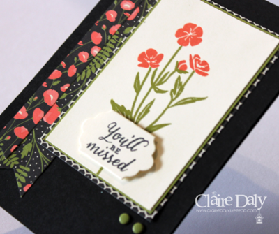 Stampin Up Retirement card using Wild About Flowers by Claire Daly