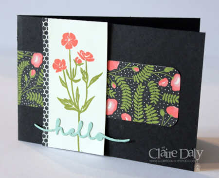 Pretty Petals DSP and Wild About Flowers Hello card. Claire Daly Stampin' Up! Demonstrator Melbourne Australia